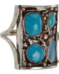 Sandra Dini - Opal Turquoise Mosaic Shield Ring - Lyst