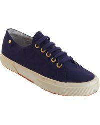 The Row - Linen Low Top Sneaker - Lyst