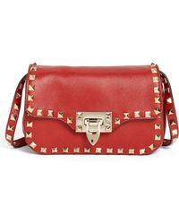 Valentino 'Small Rockstud' Flap Bag - Lyst