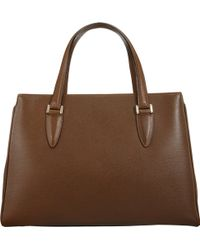 Valextra Tuile Top Handle Bag - Lyst