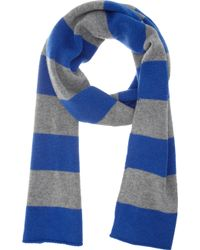 Barneys New York Rugby Stripe Scarf - Lyst
