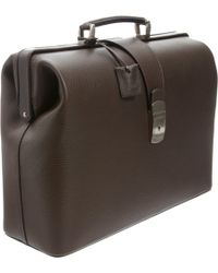 Barneys New York - Single Handle Push Lock Briefcase - Lyst
