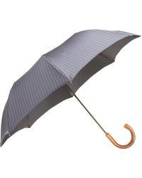 Barneys New York - Pinstripe Folding Umbrella - Lyst