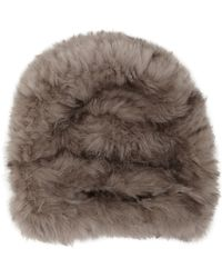 Barneys New York Fur Slouchy Hat - Lyst