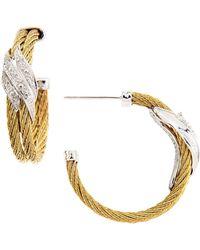 Charriol - Wavy Diamondstation Hoop Earrings - Lyst