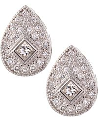 Charriol - White Gold Teardrop Diamond Earrings - Lyst