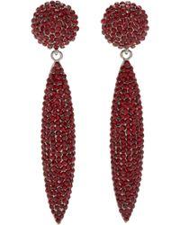 Fenton - Crimson Crystal Spear Earrings - Lyst