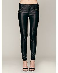 Free People Vegan Leather Skinny - Lyst
