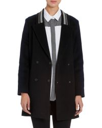 Jonathan Simkhai - Color Block Double Breasted Peacoat - Lyst