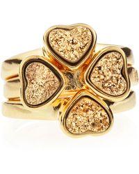Marcia Moran - Set Of Three Druzy Heart Rings Size 6 - Lyst