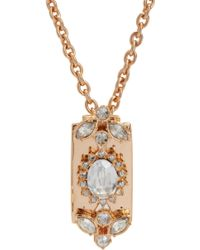 Mawi - Crystal Razor Blade Pendant Necklace - Lyst