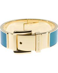 Michael Kors Buckle Enamel Bracelet Blue - Lyst