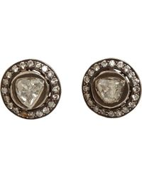 Munnu - Rose Round Cut Diamond Stud Earrings - Lyst