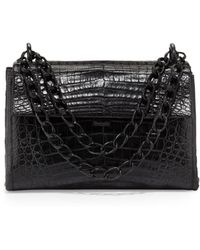Nancy Gonzalez Crocodile Small Flap Shoulder Bag - Lyst