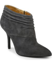 Nine West Junette Suede Slouched Ankle Boots - Lyst