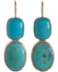 Sandra Dini - Turquoise Earrings - Lyst