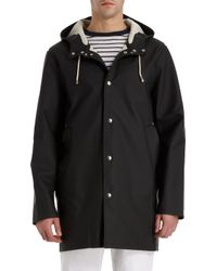 Stutterheim Black Stockholm Raincoat - Lyst