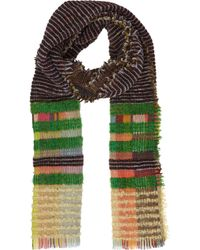 Wallace Sewell | Multi Colored Striped and Plaid Knit Scarf | Lyst