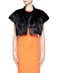 Bibhu Mohapatra Nutria Fur Cropped Jacket - Lyst
