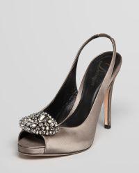 Delman - Slingback Court Shoes Aura Evening - Lyst