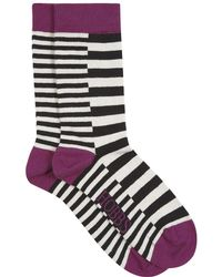 Hobbs - Mixed Stripe Sock - Lyst