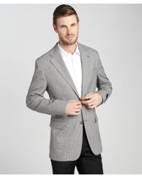Joseph Abboud Grey And Black Check Wool Two-Button Blazer gray - Lyst
