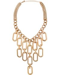 Piper Strand Chain Drop Statement Necklace yellow - Lyst
