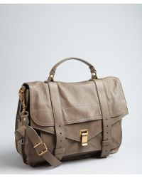 Proenza Schouler Smoke Brown Leather 'Ps1' Large Satchel - Lyst