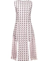 Thakoon Printed Crepe Pleated Dress - Lyst