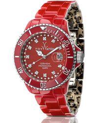 Toy Watch - Toymrhyde Twotone Plasteramic Watch Leopardred - Lyst