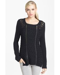 Trouvé Chain Detail Mix Knit Sweater - Lyst