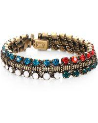 Dannijo Swarovski Crystal Snake Chain Bracelet - Lyst