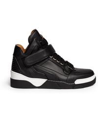 Givenchy High-Top Leather Sneakers - Lyst
