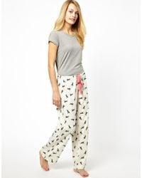 Joules - Fleur Horse Print Pajama Bottoms - Lyst