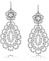 Laurent Gandini - Sterling Silver Drop Earrings - Lyst