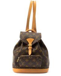 Louis Vuitton - Brown Monogram Canvas Montsouris Pm Backpack - Lyst