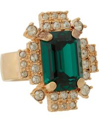 Mawi - Emerald Crystal Geometric Ring - Lyst