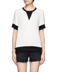 Rag & Bone Colour Block Shortsleeve Tshirt - Lyst
