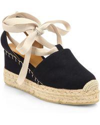 Ralph Lauren Collection - Uma Tieup Canvas Espadrille Sandals - Lyst