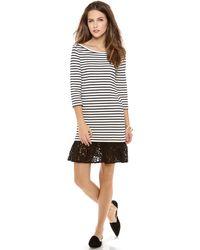 Sea Lace Ruffle Combo Dress - Lyst