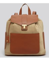 Tory Burch Brown Backpack Penn - Lyst