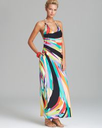 Trina Turk Prisma Swim Cover Up Maxi Dress - Lyst