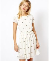 A Wear - Embellished Bow Day Dress - Lyst