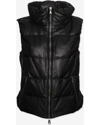 June - Exclusive Leather Vest Black - Lyst