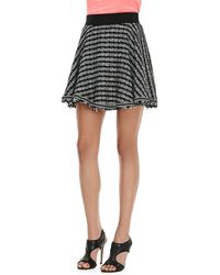 Milly Geo Flared Tweed Skirt - Lyst