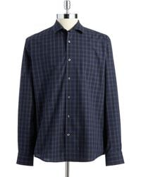 Perry Ellis Slim Fit Button-Down Shirt - Lyst
