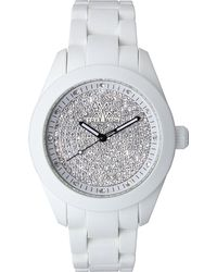Toy Watch - Velvety Full Pave Crystal Silicone Watch White - Lyst