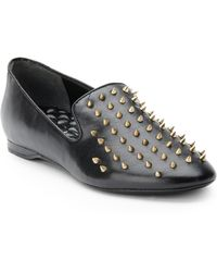 Boutique 9 Yarah Spiked Leather Loafers - Lyst