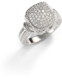 Judith Ripka | Pave White Sapphire Sterling Silver Ring | Lyst