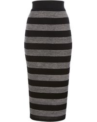 Linea Weekend Brush Stripe Midi Skirt - Lyst